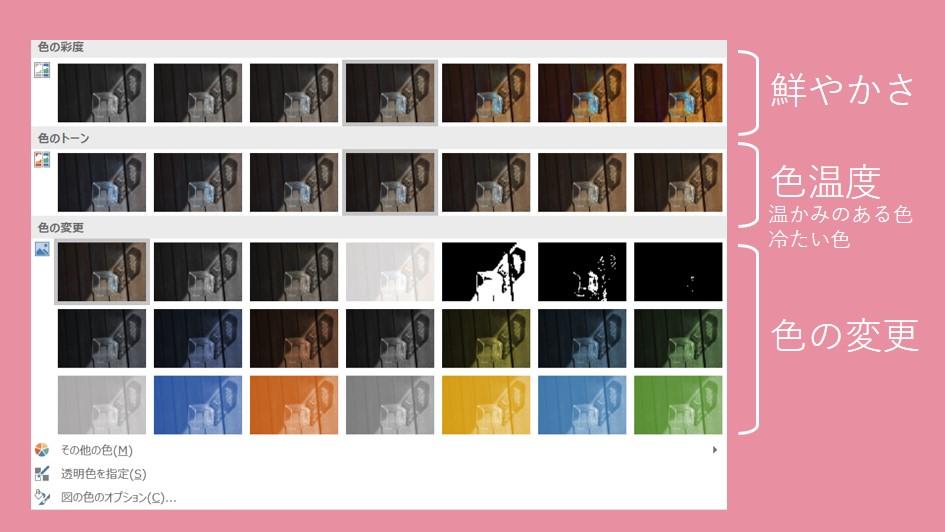 書式の色を選択