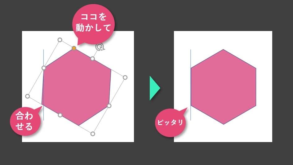 正六角形を描く5
