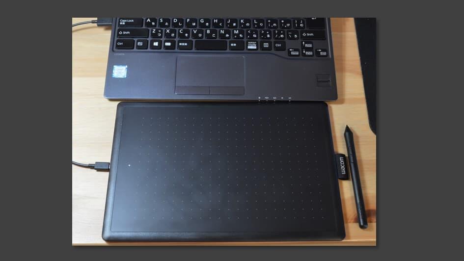 ノートPCとのサイズ感